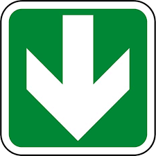 Arrow pointing downwards