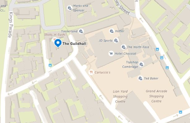 Cambridge Guildhall Map